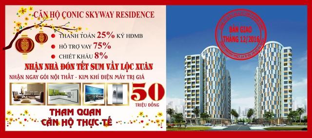 Chương trình ưu đãi mua căn hộ Conic Skyway nhận ngay gói nội thất trị giá 50 triệu đồng.