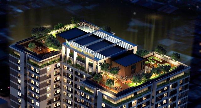 """Tiện ích khu """"Sky Garden"""" trên tầng mái là điểm nhấn vượt trội của dự án."""