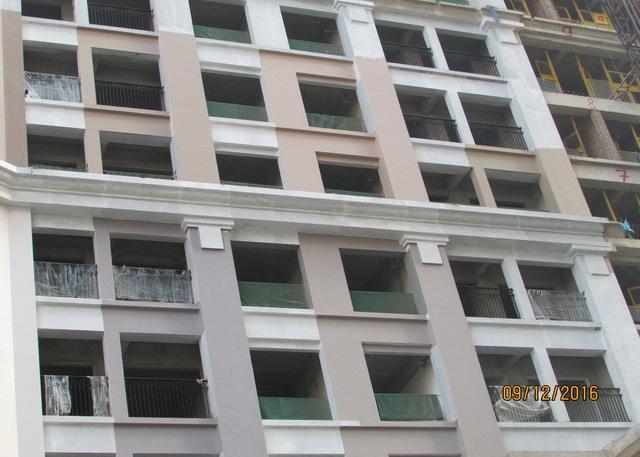 Dự án Sunshine Palace (Mai Động - Hoàng Mai) đã cất nóc, sẽ bàn giao nhà trong quý II/2017.