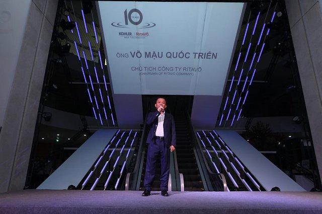 Ông Võ Mậu Quốc Triển- Chủ tịch Công ty RitaVõ phát biểu tại sự kiện.