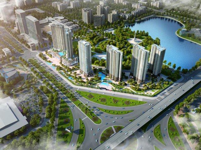 D'.Capitale nằm ngay giữa trung tâm hành chính mới với ba mặt tiền hướng ra các tuyến đường lớn Trần Duy Hưng, Khuất Duy Tiến, Hoàng Minh Giám và liền kề công viên, hồ điều hòa Nhân Chính rộng 13ha.