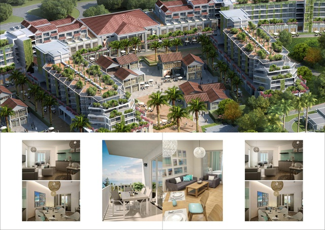 Đại dự án nghỉ dưỡng New Hoi An City có thiết kế vô cùng ấn tượng với trung tâm thương mại rộng lớn và độc đáo hàng đầu miền trung.
