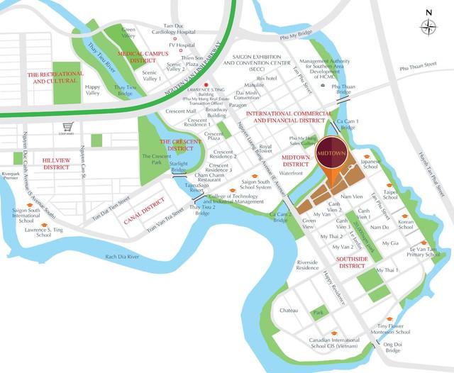 Vị trí của Phú Mỹ Hưng Midtown hội tụ các yếu tố vàng mang đến sự thuận tiện cho cuộc sống hàng ngày, cũng như tác động trực tiếp đến giá trị giá tăng bất động sản.