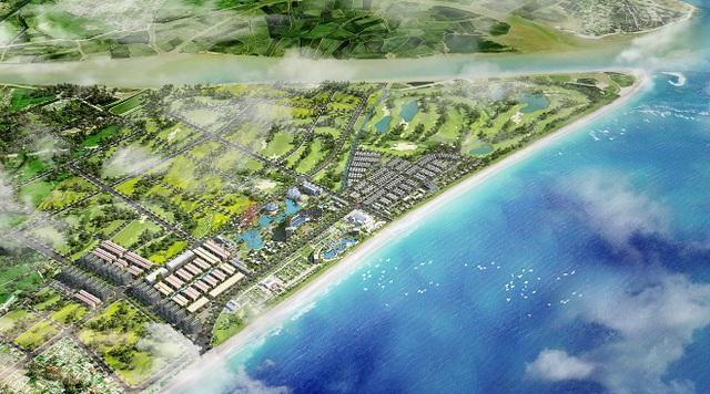 Phối cảnh tổng thể của FLC Samson Beach & Golf Resort và FLC Lux City.