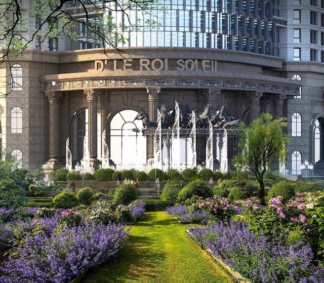 Cảnh quan xanh tại D'. Le Roi Soleil Quảng An.
