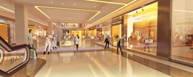Trung tâm thương mại The GoldView có quy mô hàng đầu Bến Vân Đồn.