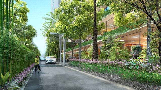 Ecolife Capitol là dự án mà kiến trúc sư người Pháp Francois Barberot của Công ty NKB Archi đặt nhiều tâm huyết với thiết kế tràn ngập sắc xanh.