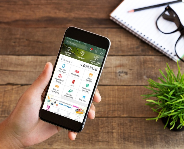 Ứng dụng MoMo có 2 triệu khách hàng nền tảng iOS, Android.