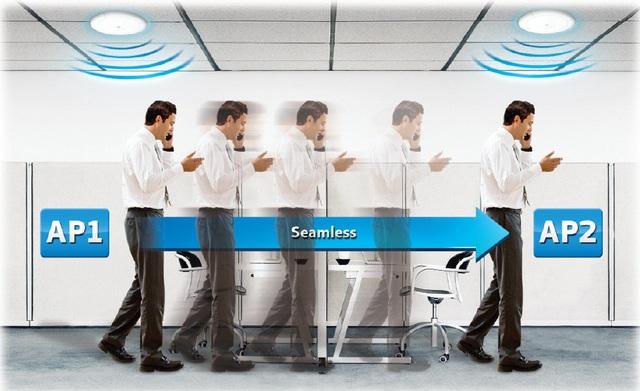 Công nghệ AirMove cho phép người dùng tự do di chuyển trong khu vực rộng lớn.