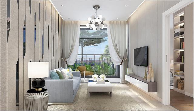 Phối cảnh nhà mẫu căn hộ Luxgarden.
