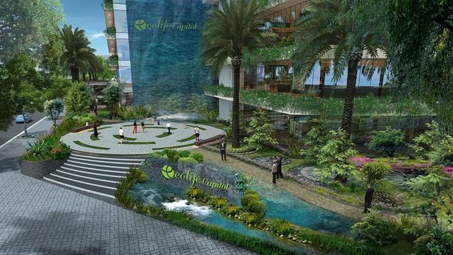 Không gian sống hoàn hảo của cư dân Ecolife Capitol đang dần hình thành và sẽ hoàn thành trong một vài tháng tới.