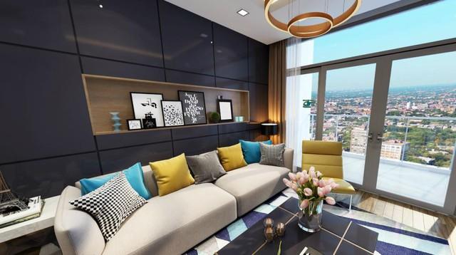 Không gian căn hộ thoáng đạt và hiện đại.
