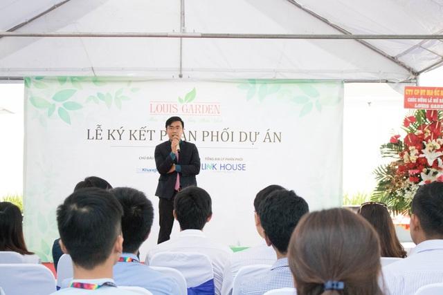 Ông Phạm Thành Bảo phát biểu tại buổi lễ.