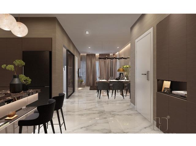 Căn hộ hoàn thiện 3 phòng ngủ tại Centana Thủ Thiêm với mức giá chỉ từ 2,6 tỷ đồng.