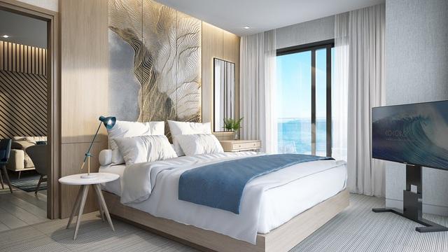 Căn condotel 3 phòng ngủ với diện tích lớn nhất lên đến 114 m2. Chúng chứa đựng sự tận tâm của người sáng tạo cùng thông điệp ý nghĩa của chủ đầu tư với mong muốn tạo nên không gian lưu trú đầy sức sống cho du khách.