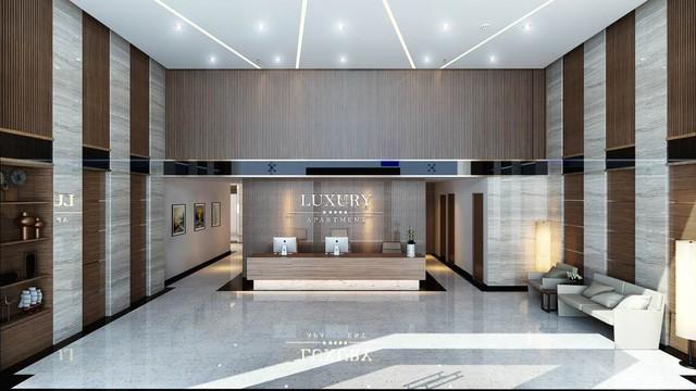 Sảnh đón khách của Luxury Apartment.
