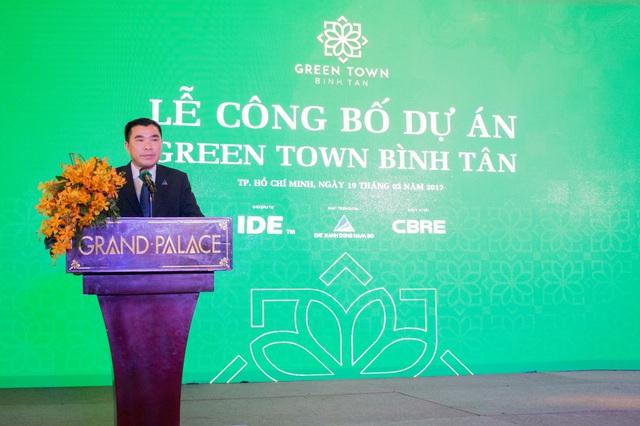 Tổng Giám Đốc Huỳnh Trung Du – Đất Xanh Đông Nam Bộ (Đơn vị phát triển dự án) khẳng định Green Town Bình Tân chính là lựa chọn an cư tốt nhất cho người dân khu Tây.