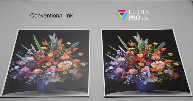 Công nghệ mực in gốc dầu LUCIA PRO với hệ thống mực in 12 màu mới của Canon.