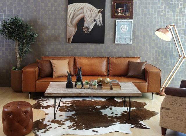 Không gian phòng khách nổi bật bởi thiết kế lạ mắt.