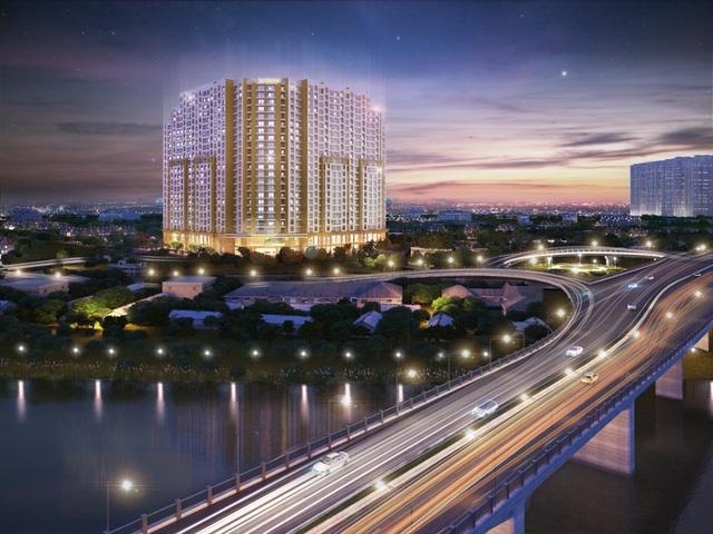 Phần lớn các căn hộ tại T&T Riverview nhìn trực diện ra sông Hồng.