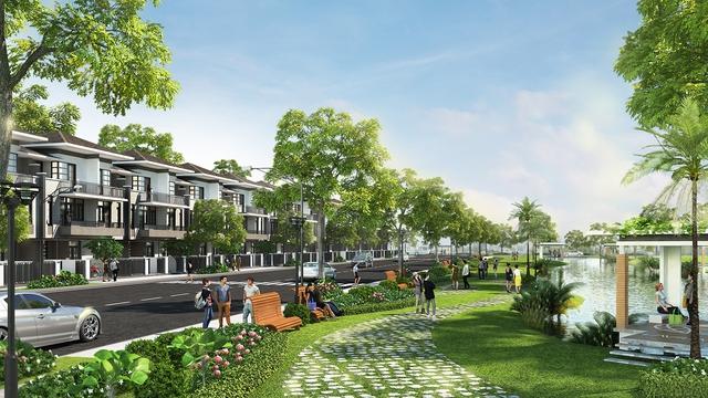 1ha công viên bờ sông, 4,6ha công viên hồ cảnh quan trải toàn khu - không gian sống chất lượng, tiện nghi.