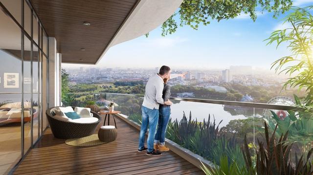 Tại Diamond Lotus Lake View, mỗi căn hộ đều đón ánh sáng và gió tự nhiên.