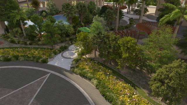Không gian sống xanh tại An Bình City.
