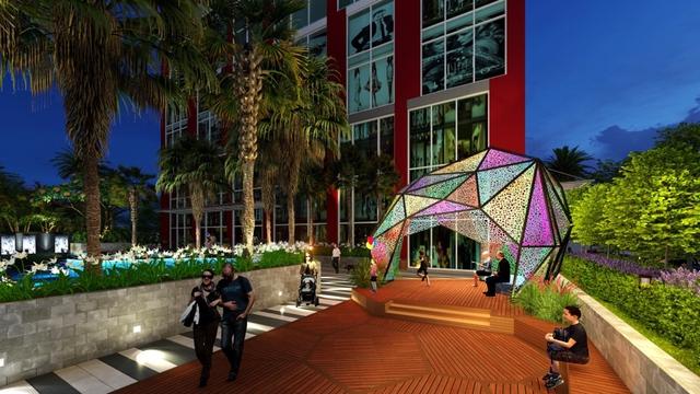 Cảnh quan dự án mang phong cách Singapore của dự án Hanoi Paragon.