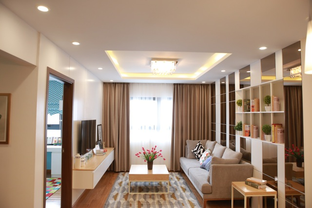 Diện tích căn hộ rộng tạo không gian sinh hoạt thoáng đãng cho cả gia đình.