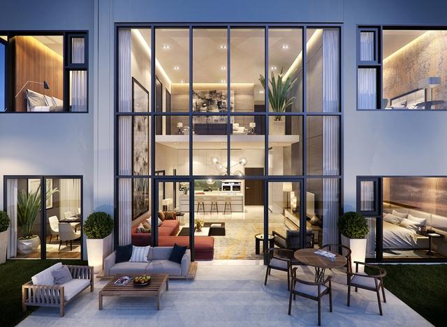 Toàn bộ kính của các căn hộ tại dự án đều là kính hộp hai lớp cách âm và cản nhiệt.