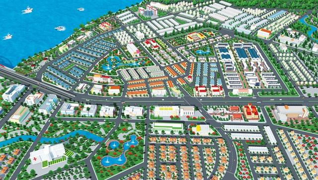 Phối cảnh của khu đô thị Bien Hoa New Town tọa lạc ngay mặt tiền Hoàng Minh Chánh, thành phố Biên Hòa.