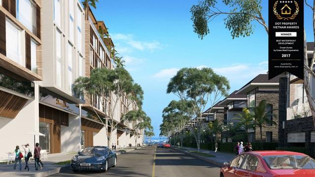 Tổng quan khu phố thương mại sầm uất của dự án Ocean Dunes – Dự án Ven biển tốt nhất Việt Nam năm 2017 được tạp chí Dot Property bình chọn.