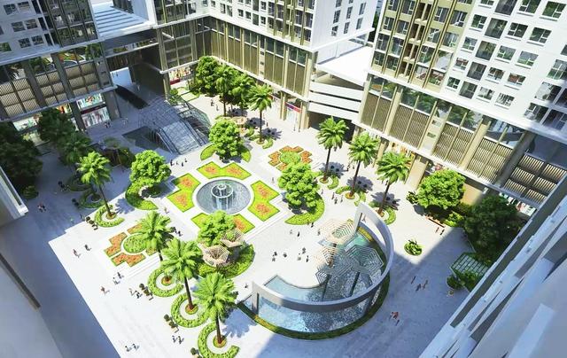 Hình ảnh phối cảnh khuôn viên của dự án rộng 5.500 m2
