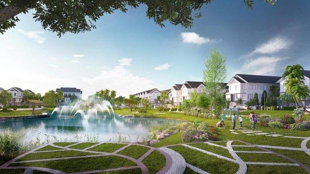 Khu Nhà phố biệt lập an ninh Park Riverside với hồ cảnh quan 1,2ha và diện tích cây xanh, mặt nước, đường nội bộ lên đến 2,4ha