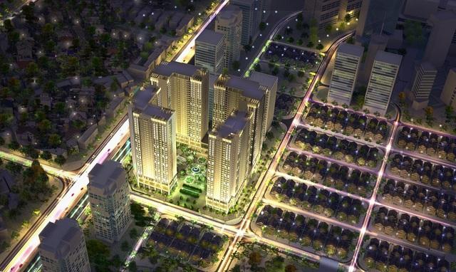 Phối cảnh tổng thể dự án Eco-Green City, Nguyễn Xiển, Hà Nội
