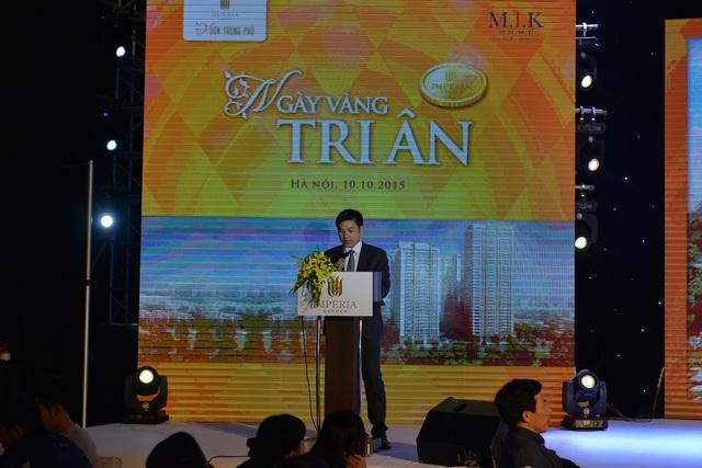 Ông Chu Thanh Hiếu – Phó Tổng giám đốc M.I.K Home chia sẻ thông tin cập nhật của dự án và nhấn mạnh cam kết của Chủ đầu tư cùng các đối tác để mang đến một sản phẩm nhà ở ưng ý cho khách hàng