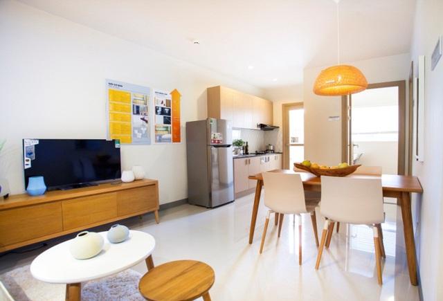 Nhà mẫu căn hộ 700 triệu 2 phòng ngủ, ngân hàng hỗ trợ vay đến 80%