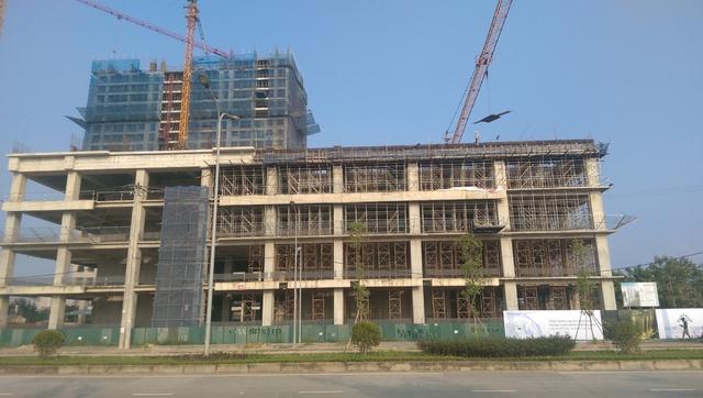 Dự án Horizon Tower hiện đã xây xong tầng 4