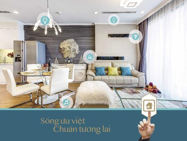 Mỗi căn hộ tại Park Hill PREMIUM đều được trang bị hệ thống smarthome mang lại sự thuận tiện, an toàn cho gia chủ