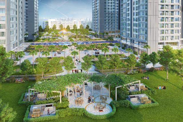 Vườn BBQ và các cảnh quan xanh gần tòa Park 11 mang tới không gian nghỉ ngơi thư giãn cho cư dân