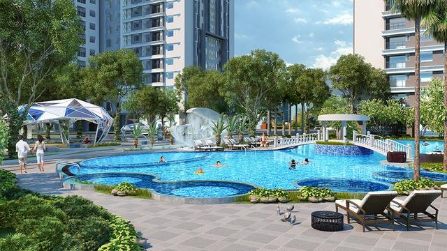 Không gian xanh và tiện ích cao cấp tạo nên điểm nhấn cho Khu Sapphire – Goldmark City