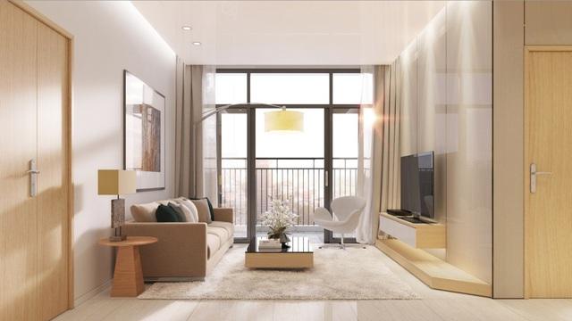 Phối cảnh phòng khách căn hộ Luxcity