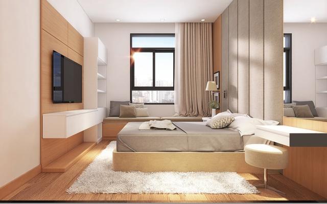 Phối cảnh phòng ngủ căn hộ Luxcity