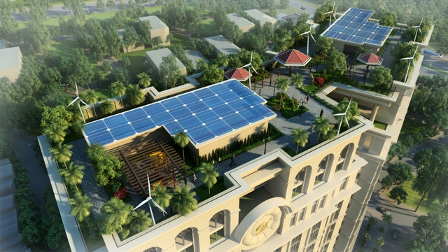 Công viên tầng mái xanh mát tại dự án