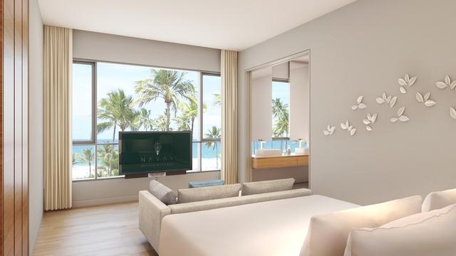 Không gian nghỉ dưỡng thanh bình tại căn hộ Naman Apartment với biển xanh, cát trắng cùng các tiện ích và dịch vụ hàng đầu