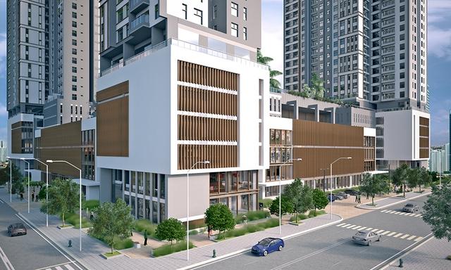 Bao quanh dự án Xi Grand Court là diện tích cây xanh lên đến 3.105 m2.