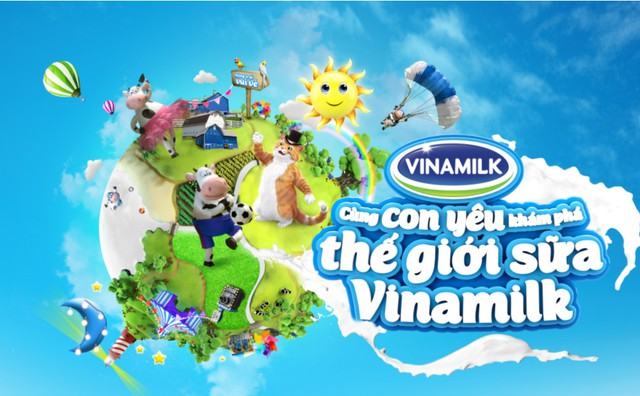 Cùng cám ơn con tại ngày hội ''Thế giới sữa Vinamilk''