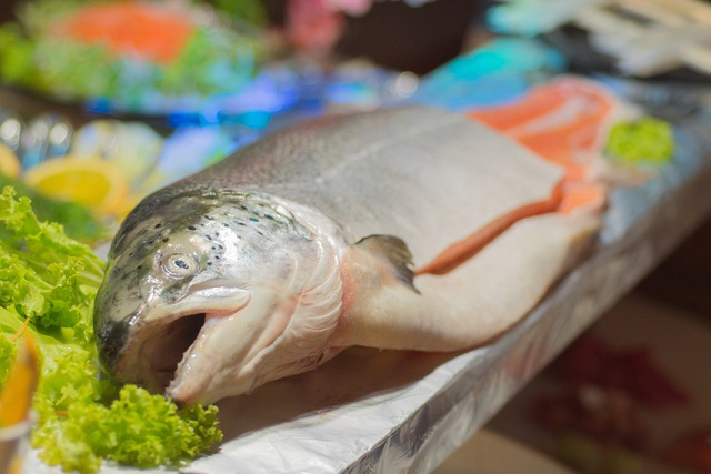 Sashimi cá hồi chuẩn tươi ngon tại nhà - Ảnh 1.