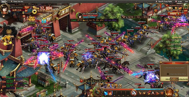 Đông đảo game thủ đổ vào Thiên Thư