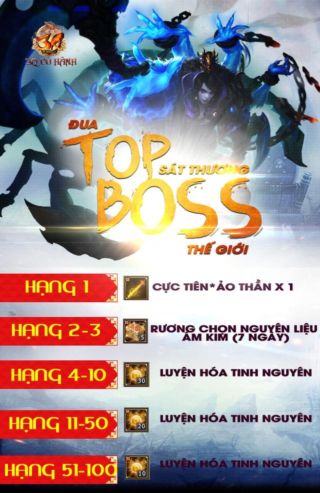 Game thủ 3Q Củ Hành ganh đua quyết liệt vì Boss Thế giới